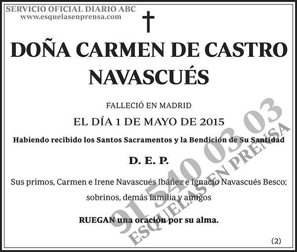 Carmen de Castro Navascués